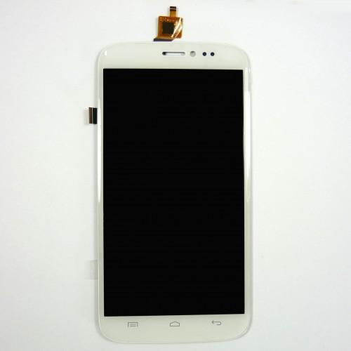 Vitre tactile + écran LCD assemblés blanc pour Wiko Darkside