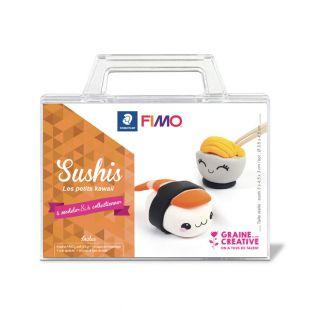 Coffret pâte polymère sushi kawai