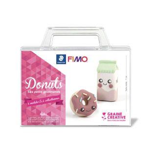 Caja de donuts FIMO kawai
