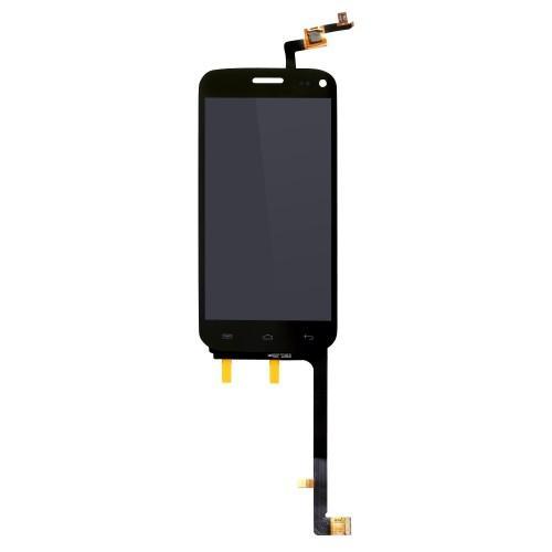 Vitre tactile + écran LCD assemblés noir pour Wiko Darkmoon