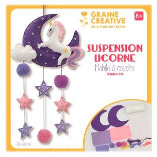 DIY set I make my baby mobile - Unicorn