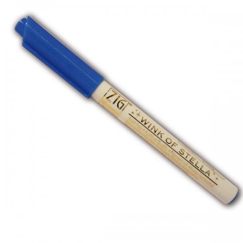 Marcador con brillo azul