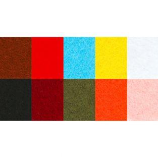 10 sheets of coloured felt A4 -...