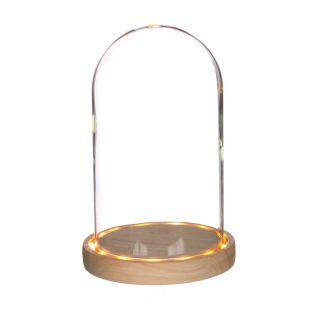 Illuminated glass bell 21,5 cm x Ø 14 cm