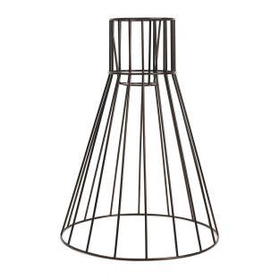 Black petticoat lampshade 33 x 25 cm