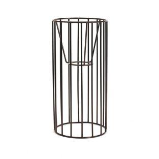 Abat-jour cylindre noir 25 x 12 cm