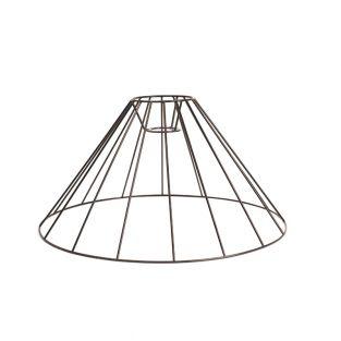 Schwarz Lampenschirm 40 x 20 cm