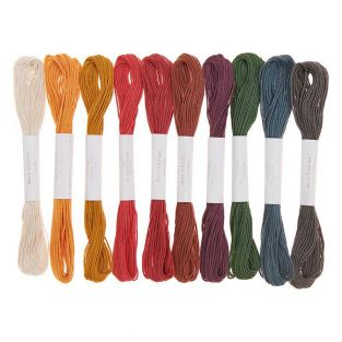 10 Baumwoll-Stickgarne - Erdfarbe
