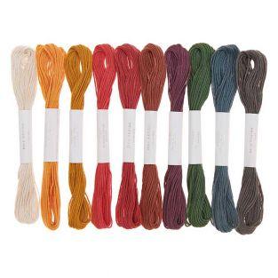 10 hilos de bordar de algodón - color...