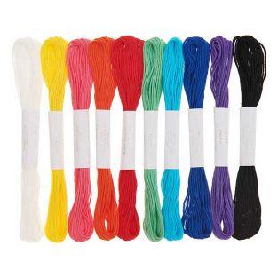 10 fili da ricamo in cotone - Arcobaleno