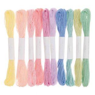 10 hilos de bordar de algodón - Helado