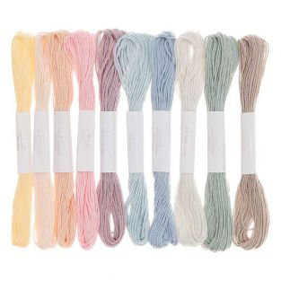 10 cotton embroidery threads - Pastel
