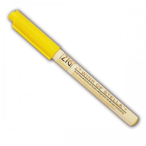 Marcador con brillo amarillo