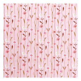 Tissu en coton fleurs des champs 50 x...
