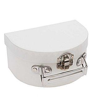 Small white semi-circular cardboard...