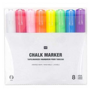 8 Kreidetafel-Marker - Regenbogen