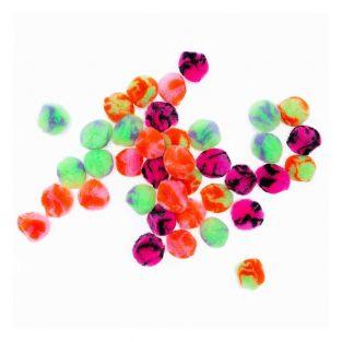 40 acrylic pompoms - Acid Leo neon...