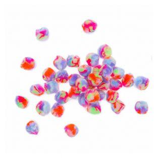 40 Acryl Poms - Pastell Regenbogen