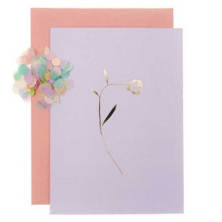 DIY Personalise your floral card - Lilac