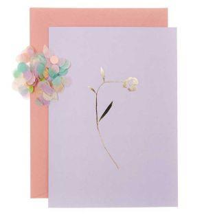 DIY Personaliza tu tarjeta floral - Lila
