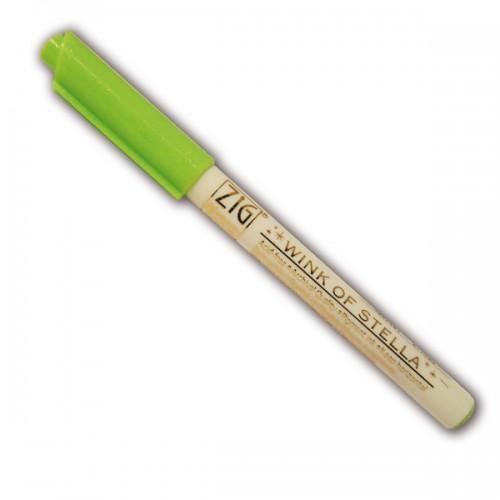 Light green glitter marker