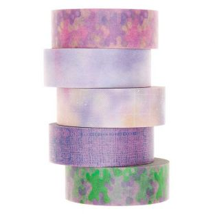 5 masking tapes 1,5 cm x 10 m - Flou...