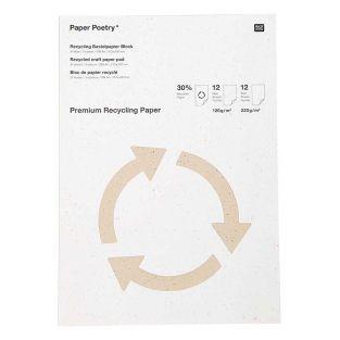 Bloc de papier recyclé A4 de bricolage