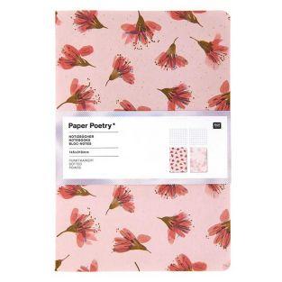 2 Bloc-Notes A5 - couverture Fleurs...