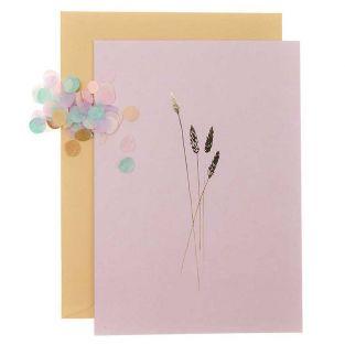 DIY Personaliza tu tarjeta floral - Rosa