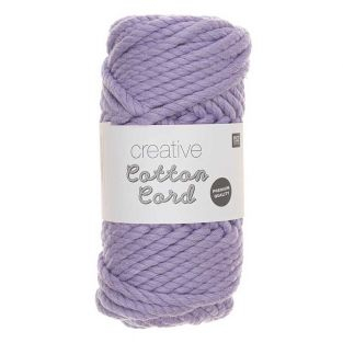 Cotton rope 25 m - Lilac