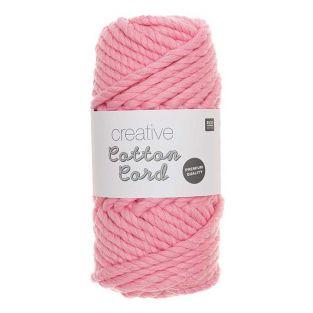 Pelote de corde en coton 25 m - Rose
