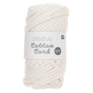 Pelote de corde en coton 25 m - Blanc