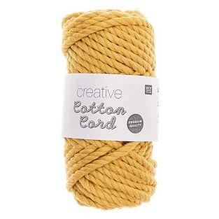 Pelote de corde en coton 25 m - Moutarde