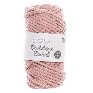 Cuerda de algodón 25 m - Rosa empolvado
