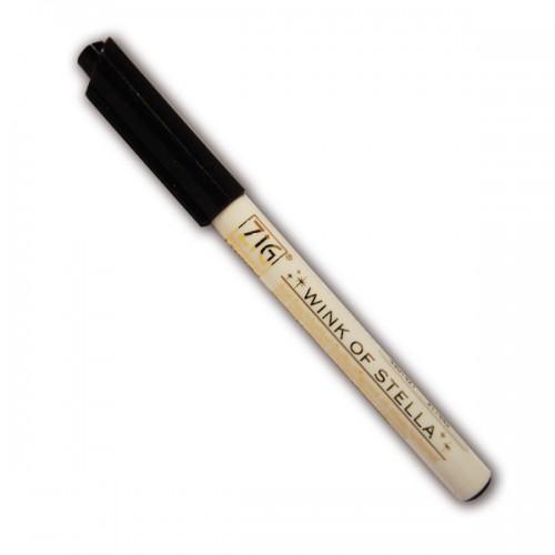 Black glitter marker