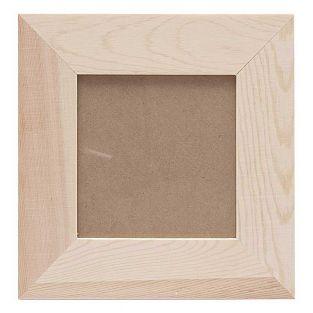 Cadre photo carré en bois - 21 x 21 x...
