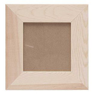 Portafoto quadrato in legno - 21 x 21...