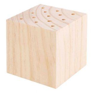 Support en bois pour fleurs séchées -...