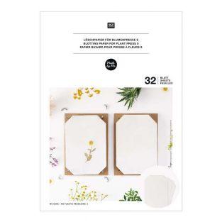 Papel secante para prensa de flores A5