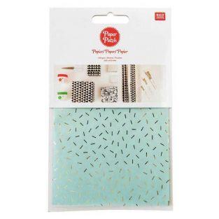 Paper patch Menta vermicelli dorati...