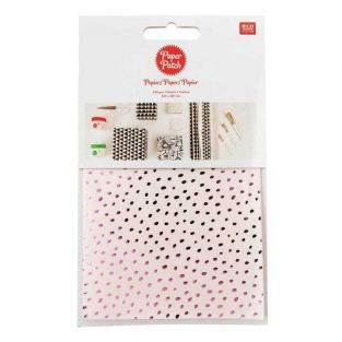 Paper patch Lilac speckled 30 x 42 cm