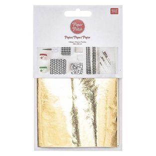 Papier patch Doré brillant 30 x 42 cm