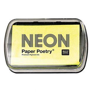 Fluorescent yellow stamp pad 9 x 6 cm
