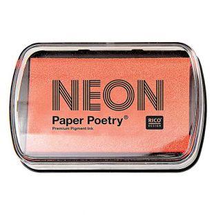 Tampon encreur orange fluo 9 x 6 cm