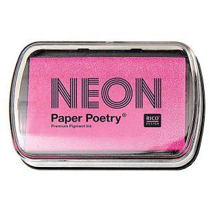 Tinta de sello rosa neón 9 x 6 cm