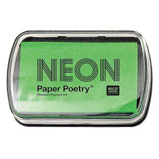Tampon encreur vert fluo 9 x 6 cm