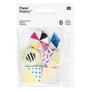 6 geometric erasers