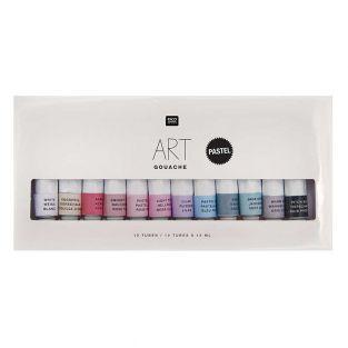 Gouache paint set - Pastel colours -...