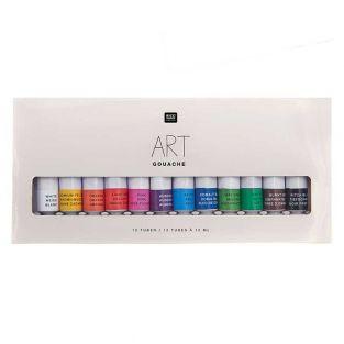 Gouache-Farbset - Grundfarben - 12 x...