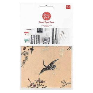 Paper patch Beige Japanese garden...